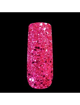 3 D Mix Size Hot Pink Rose Glitter Shining Manicure Sheet Dust Powder For Nail Art Diy Decoration & Body Glitter Crafts 268 by Echi Q