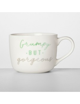 14oz Porcelain Grumpy But Gorgeous Mug   Opalhouse™ by Opalhouse