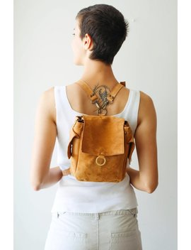 Messenger Bag, Mini Backpack, Small Backpack, Leather Satchel, Brown Leather Bag by Etsy