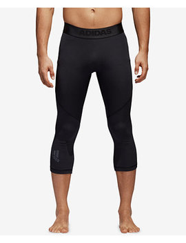 Men's Alphaskin Clima Cool® Cropped Compression Tights by Adidas