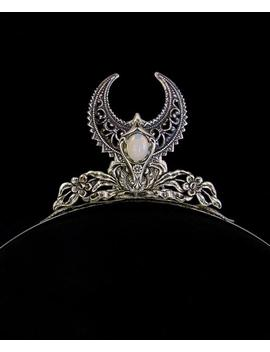 Crescent Moon Tiara ~ Diana The Huntress ~ White Opal ~ Moonstone ~ Headdress ~ Moonchild ~ Elven ~ Night Goddess ~ Diadem ~ Mythical by Etsy