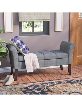 Charlton Home Keziah Upholstered Storage Bench & Reviews by Charlton Home