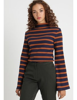 Turtle Neck Striped   Long Sleeved Top by Na Kd