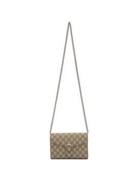 Beige Gg Supreme Dionysus Wallet Bag by Gucci