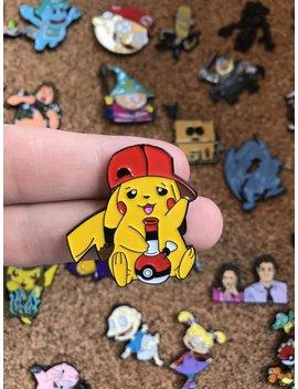 Pika Bong Pikachu Smoking Bong Collab Custom Enamel Pin, Limited Edition Pin, Pin, Pins, Enamel Pins, Lapel Pins, Custom Pins, Hat Pin by Etsy