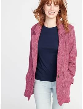Herringbone Tweed Coat For Women by Old Navy