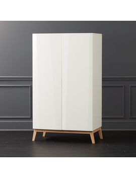 Alba White Lacquer Wardrobe by Crate&Barrel