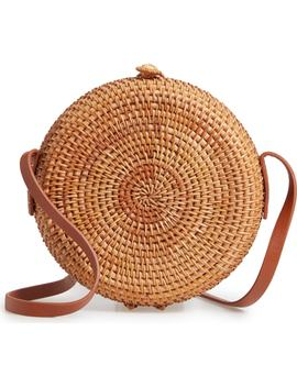Straw Canteen Crossbody Bag by Nordstrom