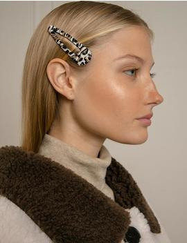 White Leopard Barrette by Pixie Market