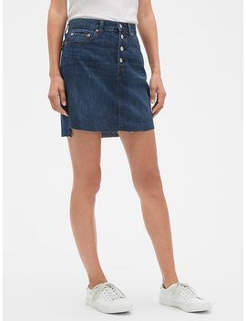 Denim Mini Skirt With Button Fly by Gap