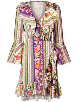 Multi Print Wrap Dress by Etro