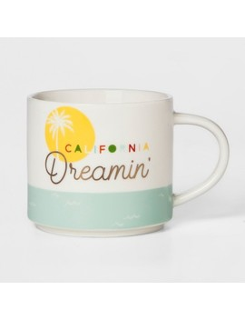16oz Porcelain California Dreamin' Mug White/Green   Threshold™ by Threshold