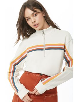 French Terry Striped Pullover by Forever 21