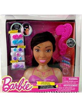 Barbie Fab Friends 20 Piece Styling Head Set   African American by Barbie