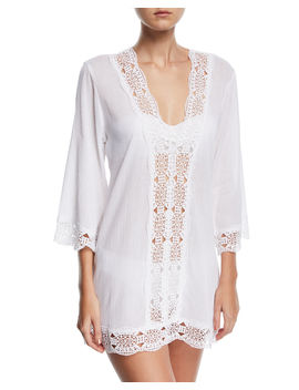Embroidered Inset Tunic Coverup by La Blanca