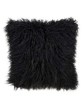 Mongolian Faux Fur Throw Pillow by Generic