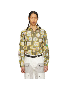 Green Animal Frame Uniform Shirt by Phipps