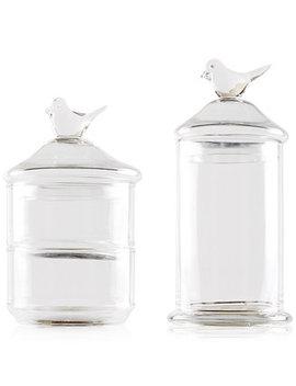 Bird Top 2 Piece Glass Jars by Madison Park