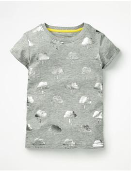 Foil Print T Shirt by Boden