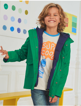 Waterproof 3 In 1 Raincoat by Boden