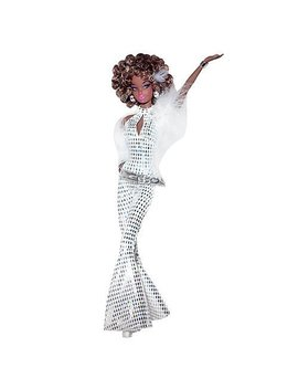 Barbie Celebrates Collection   African American Barbie Disco Doll In White Jumpsuit by Barbie