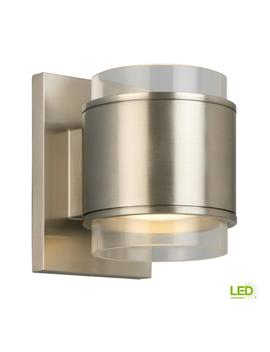 60 Watt Equivalent Brushed Nickel Led Wall Sconce by Home Decorators Collection