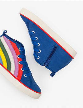 Canvas High Top Sneakers by Boden