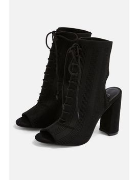Shell Lace Up Sock Heels by Topshop