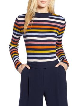 X Atlantic Pacific Shimmer Stripe Sweater by Halogen®