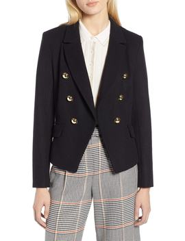 X Atlantic Pacific Double Breasted Wool Blend Blazer by Halogen®