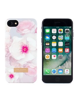 Ted Baker Aw17 Soft Feel Back Shell Case Cover For Apple I Phone 8/7   Pale Grey by Ted Baker