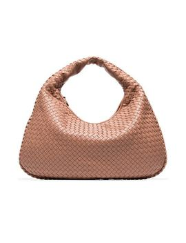 Pink Veneta Hobo Leather Shoulder Bag by Bottega Veneta