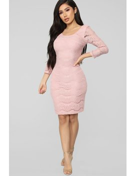 Top Floor Lace Dress   Mauve by Fashion Nova