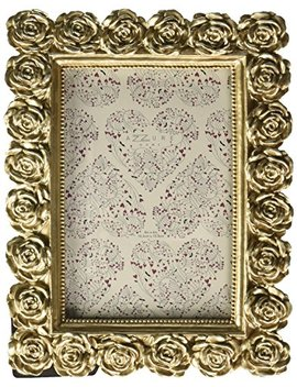 Azzure Home Rose Resin Decorative Picture Frame For Table Top Or Wedding Table Décor, 4x6, Champagne by Azzure Home