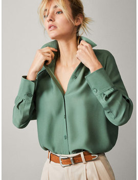 Shirt With Piping by Massimo Dutti
