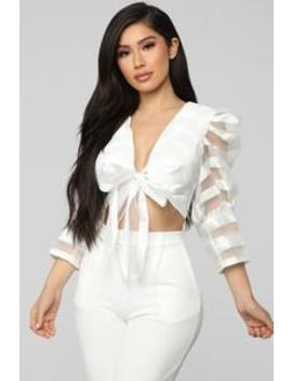 So Glamorous Top   White by Fashion Nova