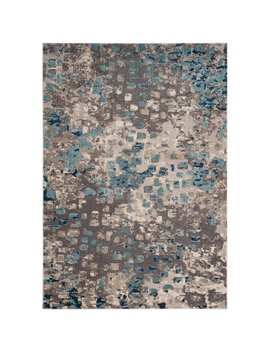 Indira Gray & Light Blue Area Rug by Allmodern