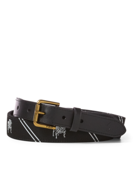 Bulldog Overlay Webbed Belt by Ralph Lauren