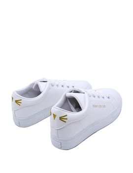 Emoji Embroidered Low Top Sneakers by Romwe