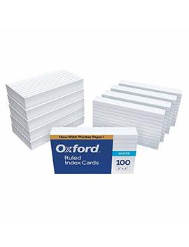"Oxford Ruled Index Cards, 3"" X 5"", White, 1,000 Cards (10 Packs Of 100) (31) by Oxford"