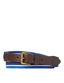 Striped Stretch Twill Belt by Ralph Lauren