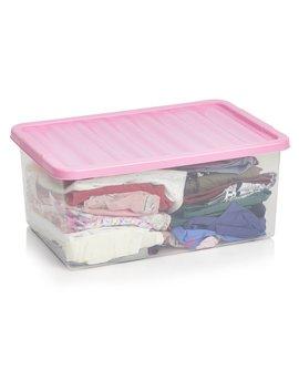 Wilko Underbed Box Pink 45 L Wilko Underbed Box Pink 45 L by Wilko