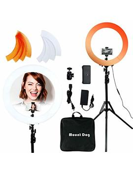 Mountdog 18 Inch Ring Light 48 Cm 55 W 240 Bulbs Led Ringlight Dimmable Round Continuous Circle Lighting Stand Kit Warm/White Color Temperature Camera Mirror You Tube Video Makeup Lighting by Mountdog