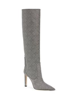 Mavis Plaid Knee High Boot by Jimmy Choo