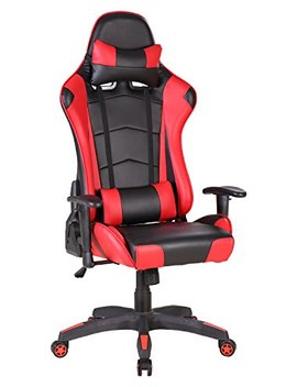 Desk Chair,Intima Te Wm Heart Racing Gaming Style Pu Leather Swivel Office Chair Recliner Tilt & Lock Function Executive Computer Task Chair (Red) by Intima Te Wm Heart