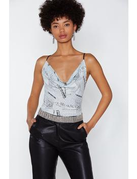 News Flash Cowl Bodysuit by Nasty Gal