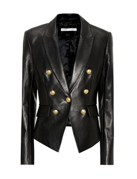 Cooke Leather Blazer by Veronica Beard