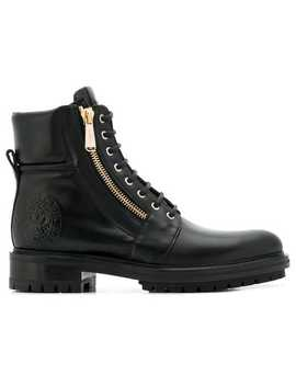 Lace Up Biker Boots by Balmain