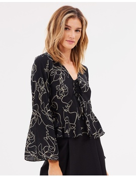 Iconic Exclusive   Milan Kimono Sleeve Top by Atmos&Here