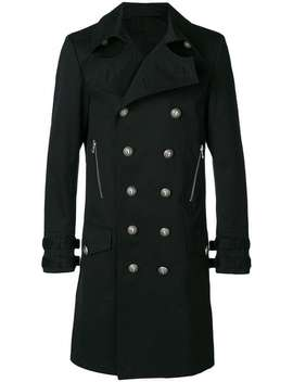 Classic Double Breasted Coat by Balmain